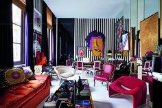 "Sig Bergamin's Vibrant New Book Celebrates Spirit and Color at Home - Sig Bergamin, South America's master of mega decor, debuts ""Maximalism"" Decor Interior Design, Interior Decorating, Room Furniture Design, Pipe Furniture, Rental Decorating, Space Saving Furniture, Paris Apartments, Eclectic Decor, Office Interiors"