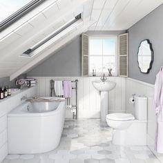 The Madison bathroom suite range has been described as having a simple sophistication and it's easy to see why. All the items feature gentle, curving contours that are coupled with excellent manufacture in quality ceramics. The result is a set of basins and toilets that will grace any traditional or contemporary bathroom. VictoriaPlum.com