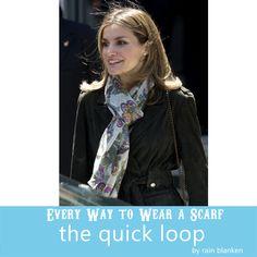 How to Loop a Scarf: Tie a Scarf in a Loop