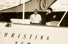 Aristotle Onassis and Jacqueline Kennedy Onassis, Los Kennedy, Jacqueline Kennedy Onassis, Grace Kelly, Classic Yachts, New Wife, Jfk, Photo Book, Cool Photos, Amazing Photos