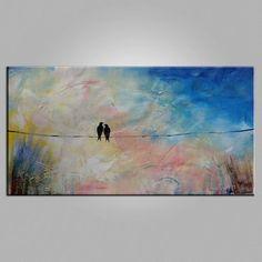 Abstract Art, Love Birds Painting, Modern Art, Contemporary Art, Art f – Art Painting Canvas Love Birds Painting, Large Painting, Acrylic Painting Canvas, Canvas Art, Abstract Canvas, Large Canvas, Abstract Paintings, Buy Canvas, Square Canvas