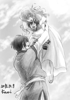 Son Hak x Yona with their little boy.  (✿ ♥‿♥)(My Favorite Haku x Yona fan art forever and ever!!)Wonderful Fan Art By:K_Ponbon please do not remove source/credit || Permission ❀