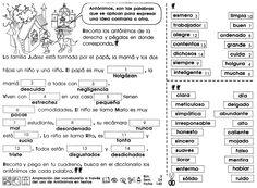 Ficha sobre Ampliación del                                       vocabulario a través del uso de                                       antónimos en textos , para 5to                                       grado de educación primaria.