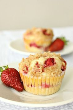 Strawberry Cheesecake Muffins {Breakfast is Served}