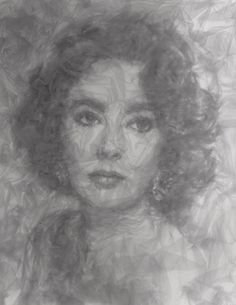 Amazing portraits by Benjamin Shine using tulle and an iron!