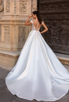 crystal design 2017 bridal off the shoulder sweetheart neckline heavily embellished bodice romantic a line wedding dress with pockets sheer back royal train (diana) bv