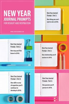 New Year Journal Prompts for Insight and Inspiration - 2018 in Preview #journal #journaling #selfdiscovery