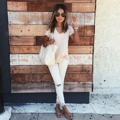 neutrals + sexy sandals