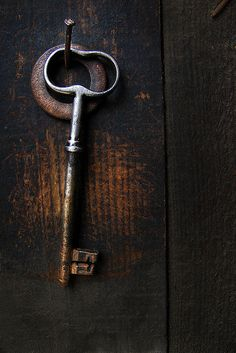 """"""" Key to the cottage? We had only a skeleton key for a few of the places we stayed. Knobs And Knockers, Door Knobs, Door Handles, Under Lock And Key, Key Lock, Key Key, Antique Keys, Vintage Keys, Cles Antiques"""
