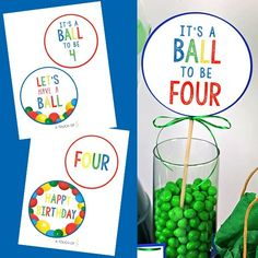 Let's run, jump, bounce and play, to celebrate your little one's birthday! These printable Let's Have a Ball Party Decorations are perfect for your party! Ball Birthday, Baby First Birthday, First Birthday Parties, Birthday Party Themes, First Birthdays, Fourth Birthday, Party Favor Tags, Party Bags, Party In A Box