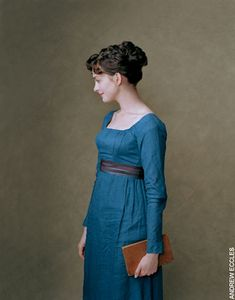 The dress that Ann Hathaway is wearing in 'Becoming Jane' (2007) is furnished with a chocolate and blue silk ribbon woven at the Silk Mill