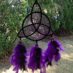 "7"" Celtic trinity knot dream catcher. Available on eBay."