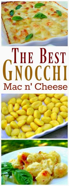 The Best Gnocchi Mac and Cheese - a mouth-wateringly complex blend of flavors. You are going to flip over the savory, richly-layered gnocchi cheese sauce in every bite. Baked Gnocchi, Gnocchi Recipes, Gnocchi Mac And Cheese Recipe, Best Gnocchi Recipe, Cheese Recipes, Real Food Recipes, Cooking Recipes, Budget Recipes, Meal Recipes