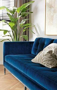 sabine sofa in navy velvet
