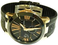Ulysse Nardin Executive Dual Time Automatic Rose Gold Mens Watch