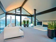 Risultati immagini per huf haus Residential Steel Homes, Steel House, Types Of Houses, Model Homes, Luxury Homes, Architecture Design, Living Room Decor, Modern, Interior Design