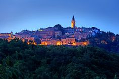 """Labin: """"Perched on a hill 320m above the sea, Labin has a proud history, in which it has often asserted an independent spirit. Once a mining town, which is renowned for staging the first anti-fascist revolution, it's now better known within its medieval walls for its flourishing art."""" Istria: The Bradt Guide www.bradtguides.com"""