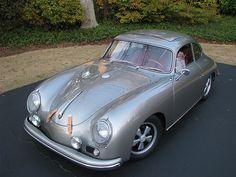 Porsche 356 Silver with Sun Roof - Sweet