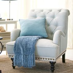 Possible chair for guest room - Chas Armchair - Seersucker