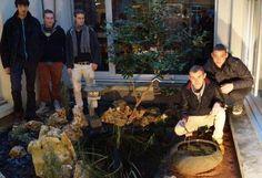 Un jardin japonaisa été créé à la médiathèque Jacques Lanzmann :  l'œuvre des jeunes du lycée de Verneuil.(Loches Centre Val de Loire)