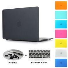 Günstige Crystal Clear Matte Gummierte Hard Case für Macbook Pro 13,3 15,4 Pro Retina 12 13 15 zoll Macbook Air 11 13 Laptop Shell, Kaufe Qualität Laptop Taschen & Koffer direkt vom China-Lieferanten:                Paket einschließlich:                          1    ×  Matte/kristall Fall + 1  × Tasta