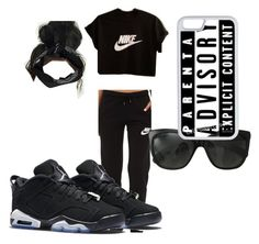 """Bum Day."" by lexipoo0227 ❤ liked on Polyvore featuring NIKE, Chanel, CellPowerCases and Boohoo"