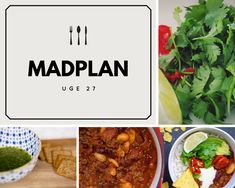 Madplan – Uge 27, 2018