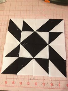 knit 'n lit: Modern Half-Square Triangle Quilt-a-Long Block 15