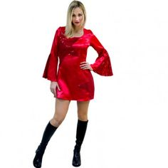 #robe #disco #rouge #sexy #femme #déguisement