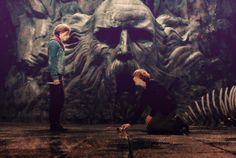 Ron and Hermione in the Chamber of Secrets