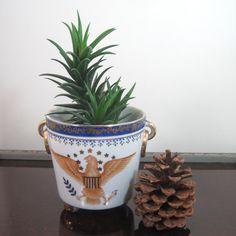Vintage Eagle decorated Porcelain Cache pot with by Hallingtons