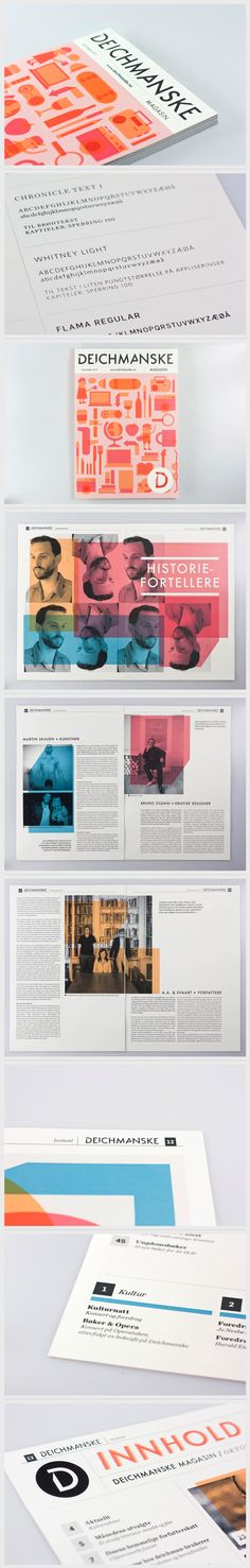 Editorial Design - Deichmanske Magazine