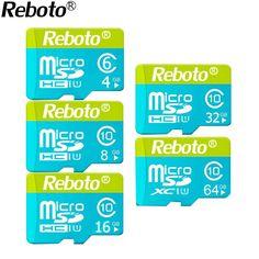 Rebot Micro SD Card 64GB 32GB Memory Card UHS-1 16GB 8GB 4gb Class 10 Flash card Memory Microsd for Smartphone/Tablet