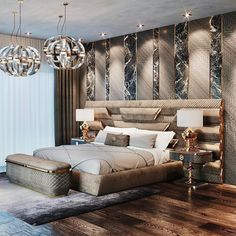 Modern Luxury Bedroom, Master Bedroom Interior, Luxury Bedroom Design, Bedroom Closet Design, Modern Master Bedroom, Room Ideas Bedroom, Contemporary Bedroom, Luxurious Bedrooms, Home Decor Bedroom