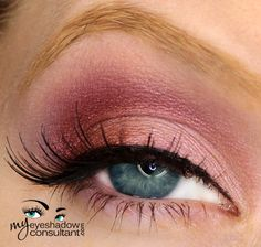 MAC eyeshadows used: •Seedy Pearl (inner half of lid) •Cranberry (outer half of lid) •Plum Dressing (crease) •Vanilla (blend)