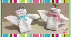Handicrafts with towels – Towel Ideas 2020 Kids Gifts, Craft Gifts, Christmas Angels, Christmas Crafts, Washer Crafts, Dish Towel Crafts, Towel Animals, Baby Washcloth, Craft Show Ideas