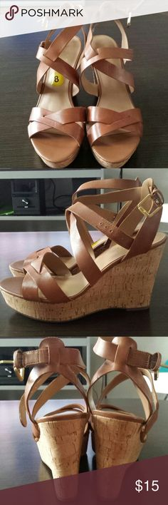 Brand New Franco Sarto Size 8 Camel Wedge Shoes Brand new never worn Franco Sarto size 8 camel colored wedge Franco Sarto Shoes Wedges