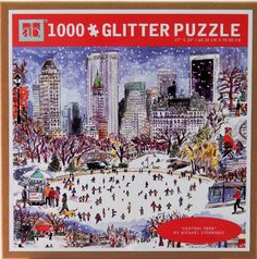 Michael Storrings is a well known New York artist who beautifully depicts the winter season in Central Park in this piece puzzle. Animated Reindeer, New York Winter, New Puzzle, Ornaments Design, My Favorite Image, Winter Season, Central Park, Jigsaw Puzzles, Seasons