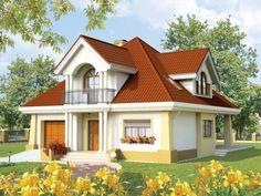 Simple House Plans, Dream House Plans, Small Loft Apartments, Red Roof House, Modern Bungalow House, Duplex House Design, Japanese Garden Design, Cabin Homes, Design Case