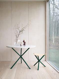 NEB Round Dining Table in Carrara Marble Diameter 100 cm 0