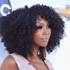 Natural hair wig, brandy