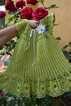 Just imagine, no pattern Crochet Stitches, Knit Crochet, Crochet Toys, Baby Girl Dresses, Baby Dress, Baby Patterns, Crochet Patterns, Toddler Dress, Toddler Outfits