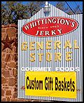 Whittington's Jerky Storefront and Sign in Johnson City Texas