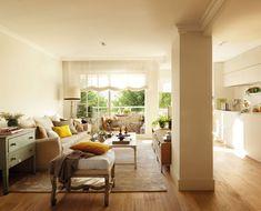 00355547b.  Detalhe da sala de estar aberta com cozinha.  00355547b