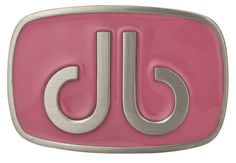 DB Giant Oval Pink Buckle by Druh Belts.  Buy it @ ReadyGolf.com