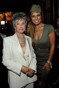 *EXCLUSIVE* Actress Rita Moreno (L) poses with dancer during the 2009 ALMA Awards held at Royce Hall on September 17, 2009 in Los Angeles, California.