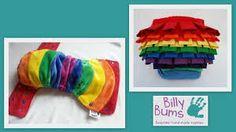 A rainbow Billy Bums pocket ruffle bum cloth nappy