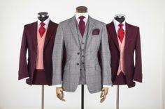 I like the groom's suit.  burgandy groom suit by Jack Bunneys