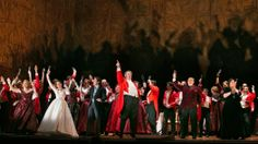 """Robert Carsen's production of Verdi's """"Falstaff"""" came to the Metropolitan Opera after a very well-received run in London."""