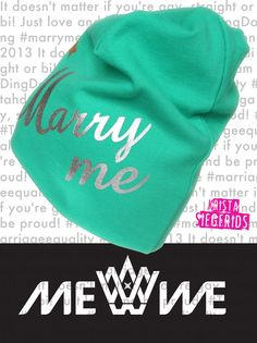 Talking about LOOOVE? Yes, yes, yes -  with Krista Siegfrids of course. Say it with Marry Me Beanie, Baby - get yours from www.mewe.fi. It´s * Hand Printed * Organic Cotton * Made in Finland * Gotta love it! #MarryMe #Tahdon2013